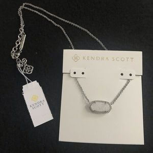 Kendra Scott - Drusy Elisa Silver Pendant Necklace